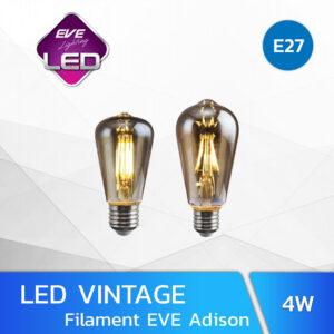 หลอดไฟวินเทจ LED 4W Filament EVE Adison