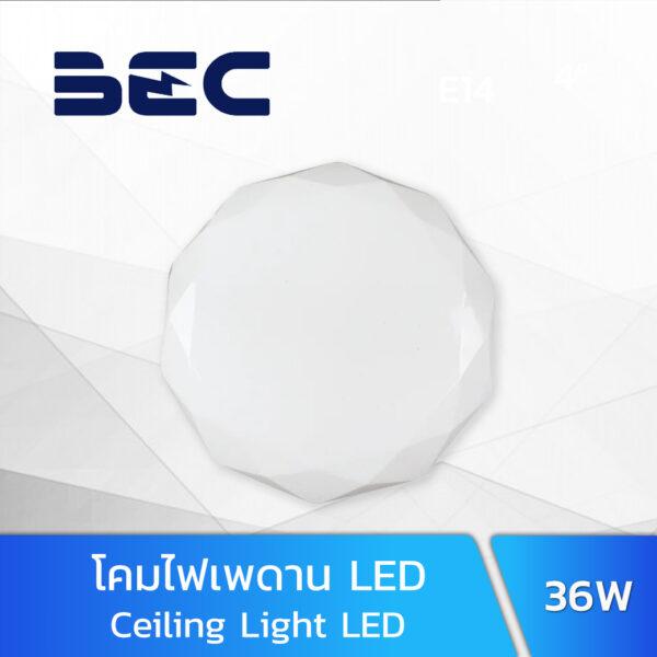 โคมไฟเพดาน LED 36W BEC VENUS-P